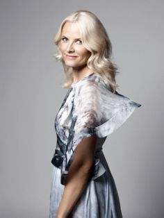 The beautiful crown princess of Norway - Mette Marit in this beautiful Valentino creation