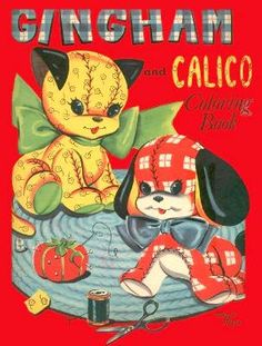 Gingham and Calico 1940's Coloring Book