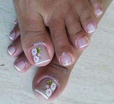 Unhas decoradas nos pés