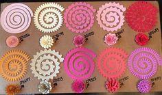 felt rose spiral rosette