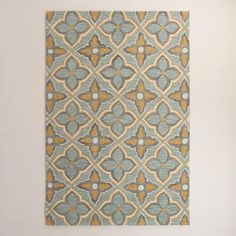 One of my favorite discoveries at WorldMarket.com: Costa Brava Gold Hooked Area Rug