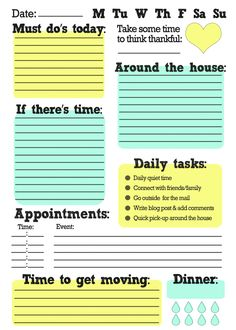 #FreePrintable Free Printable To Do List! Great way to stay #organized while working from home! #ToDoList