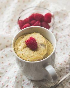 Raspberry Almond Mug Cake - The Adventures of MJ and Hungryman