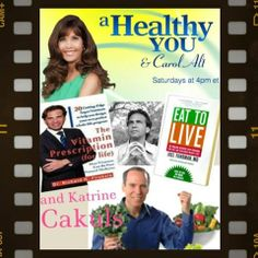 "Be sure to watch this weekend!  Joe Cross aka ""Joe the Juicer"" (you might know him from ""Fat Sick and Nearly Dead"" will tell us how to juice out obesity.  There will be more ""goodies,"" such as tips on surviving the holidays and gift-giving ideas!  www.carolalt.com"