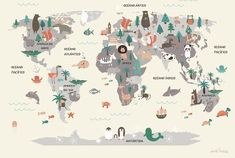¿Damos la vuelta al mundo en un solo día? Si el personaje de Julio Verne tardaba 80 días en dar la vuelta al mundo, ahora los peques podrán hacerla en un solo día, desde su cuarto, con las nuevas láminas infantiles de Kaliaha Volha inspiradas en mapamundis llenos de personajes, animales, monumentos y muchos detalles …