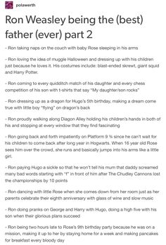 Ron Weasley as a father