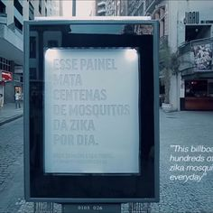 A new advertising billboard in Rio de Janeiro targets not a human audience, but Brazil's population of Zika-spreading mosquitoes