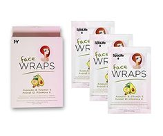 Spa Life Avocado  Vitamin E Nourishing Facial Wraps  3 Treatments >>> This is an Amazon Affiliate link. Check this awesome product by going to the link at the image.