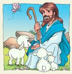 Jesus Is Risen, Jesus Is Lord, Preschool Bible, Bible Activities, Bible Crafts, Bible Art, Church Altar Decorations, Creation Bible, Jesus Cartoon