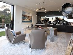 Office with Motorcycles