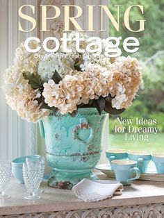 Craft decorating books on pinterest shabby chic Spring cottage magazine
