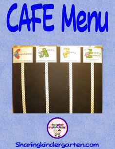 Sharing Kindergarten: Reading Strategies - CAFE strategies