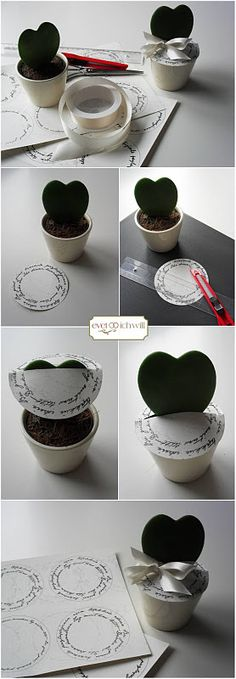 "DIY wedding favor or seat card with ""hoya kerrii"" better known as heart plant :)    #gastgeschenk #tischkarten #druckvorlagen"