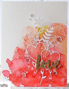 Hello crafty friends, I hope you had a fabulous Christmas! Today I want to share with you a couple cards with SSS Valentine themed goodies. For my first card, I used Love Bouquet and I Love You Wo… My Funny Valentine, Valentine Day Cards, Pretty Cards, Love Cards, Wedding Anniversary Cards, Wedding Cards, Card Making Inspiration, Making Ideas, Watercolor Cards