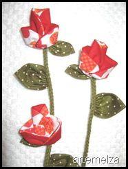 Sew fabric flower - tutorial
