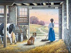 Day Break  JohnSloaneArt.com - John Sloane - Gallery - Country Kids