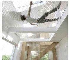 Ceiling hammock! Very unique idea