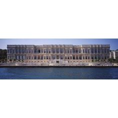 Facade of a palace at the waterfront Ciragan Palace Hotel Kempinski Bosphorus Istanbul Turkey Canvas Art - Panoramic Images (36 x 13)