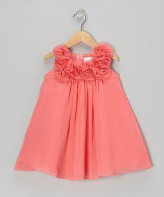 Coral Rosette Dress - Infant, Toddler & Girls $27 (sale ends Monday, 6/3)