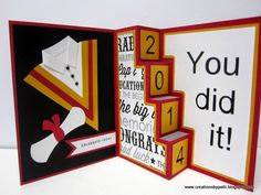 Creations by Patti: Graduation 4 step Card=need to find directions on how to make this.