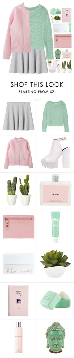 """""""you know whazzup."""" by annamari-a ❤ liked on Polyvore featuring Monki, Elizabeth and James, Jeffrey Campbell, Prada, Tom Ford, Origins, NARS Cosmetics, ASOS, Balmi and Lancôme"""