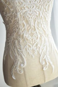 Items similar to Exquisite Wedding Lace Applique in Ivory , Illusion Bridal Veil Applique for Wedding Gown Back , Bridal Dress Decor, Bodice on Etsy Applique Wedding Dress, Boho Wedding Dress, Bridal Dresses, Wedding Gowns, Embroidered Lace, Lace Applique, Wedding Cales, Victoria Fashion, Lace Weddings