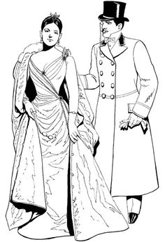 Free Coloring Pages: Vintage Fashion * coloring page | Rubber ...