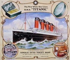 Titanic Vintage 1912 Advertisements