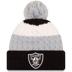 96dd161ff Oakland Raiders New Era Women s Layered Up Cuffed Pom Knit Hat – Black -   23.99