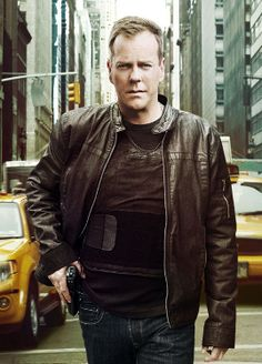 Kiefer Sutherland as Counter Terrorist Unit (CTU) agent Jack Bauer