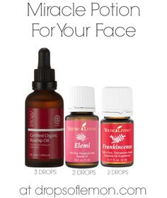 Combine 3 drops of Rosehip Oil with 2 drops of Elemi and 2 drops of Frankincense oil. Rosehip oil: http://www.amazon.com/Trilogy-Certified-Organic-Rosehip-Oil/dp/B000N94XPQ/ref=as_sl_pc_tf_til?tag=dropsoflemon-20&linkCode=w00&linkId=UOVB7DWTFCEGR446&creativeASIN=B000N94XPQ