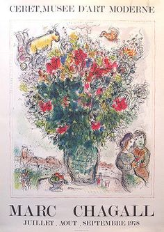 Original French Exhibition Poster Marc Chagall Drawing by Marc Chagall - Original French Exhibition Poster Marc Chagall Fine Art Prints and Posters for Sale