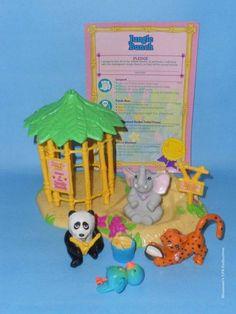 LPS Vintage Littlest Pet Shop - 1993 Zoo Jungle Bunch - COMPLETE!