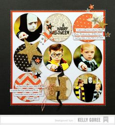 Papercrafting Halloween Inspiration: Scrapbook Layout from American Crafts