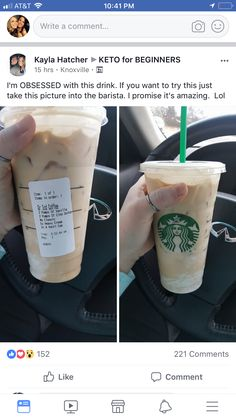 Starbucks drinks to try Starbucks Drinks, Iced Coffee, Keto