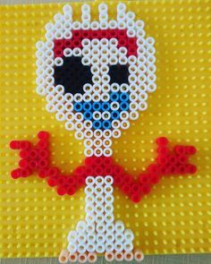 How many went to see Toy Story 4 ? Here we bring to Forky one of the pers . - How many went to see Toy Story 4 ? Here we bring to Forky one of the new characters of this great - Melty Bead Patterns, Pearler Bead Patterns, Perler Patterns, Beading Patterns, Quilt Patterns, Machine Quilting Patterns, Longarm Quilting, Free Motion Quilting, Perler Bead Templates