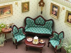 Dollhouse Boudoir RoomBox Set Scale 112 by Minicler on Etsy, $149.00