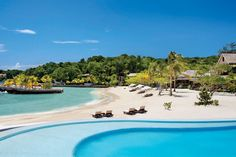 Low Cay Beach is home to the main pool and guest cottages at Jamaica's GoldenEye resort