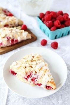 Raspberry Almond Scone Recipe with an Almond Glaze