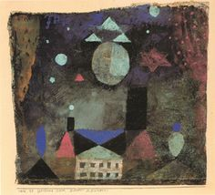 Stars Above An Evil House by Paul Klee-1916