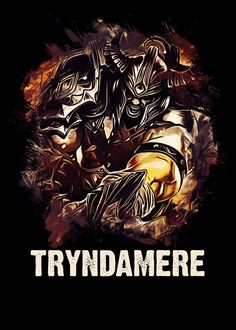 TRYNDAMERE - League of Legends  TRYNDAMERE - League of Legends Gallery quality print on thick 45cm / 32cm metal plate. Each Displate print verified by the Production Master. Signature and hologram added to the back of each plate for added authenticity & collectors value. Magnetic mounting system included.  EUR 39.00  Meer informatie