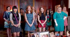 Maison Jules Dot-Print Dress as seen on Chloe in Pitch Perfect 2 Elizabeth Banks Pitch Perfect, The Hit Girls, Pitch Perfect Movie, Adam Devine, Movie Sequels, Movie Characters, Rebel Wilson, Cinema, Brittany Snow