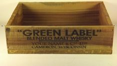 Personalized Whisky Shipping Crate. by GWCcakepans on Etsy, $25.00