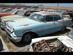 private old car junk yard - YouTube