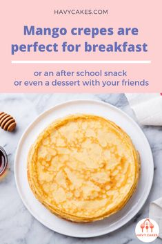 Mango crepes are perfect for breakfast or an after school snack or even a dessert with your friends  This article will guide you on how to make mango crepes. These sweet crepes are ideal for a dessert treat for your loved ones and friends. It only requires some practice with swirling the pan while you are cooking crepes. That's it. So let's start to make some sweet and tasty mango crepes.  #howtomakeMangoCrepes #mangocrepesrecipes #havycakes #howtomakecrepes Crepe Delicious, Delicious Cake Recipes, Yummy Cakes, Dessert Recipes, Mango Crepes Recipe, Crepe Maker, How To Make Crepe, Mango Cake, Crepe Recipes