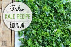 Paleo Kale Recipe Roundup Paleo Kale Recipes, Primal Recipes, Whole Food Recipes, Diet Recipes, Vegetarian Meals, Paleo Side Dishes, Vegetable Side Dishes, Real Food Cafe, Paleo Vegetables