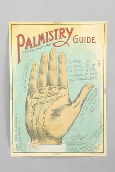 Palmistry Poster $24.00 urban outfitters.com
