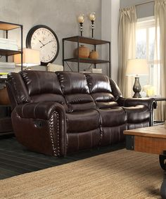 look what i found on zulily double reclining sofa zulilyfinds