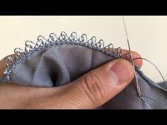 Gri yazmaya iğne oyası modeli / iğne oyası modelleri/ iğne oyası yazma modelleri/ iğne oyası yapımı - YouTube Saree Kuchu Designs, Blouse Designs, Crochet Tablecloth, Crochet Patterns, Sewing, Lace, How To Make, Straw Weaving, Knitting
