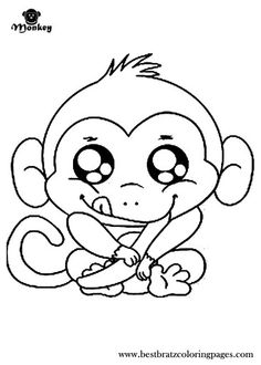 Free Printable Cartoon Monkey Coloring Page Pictures Pages For